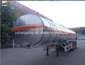 Tri Axle Carbon Steel 50000 Liters Fuel Oil Tank Semi Trailer
