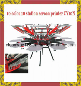 Rotary 10 Color Station Textile Silk Screen Printing Machine Manual (CY-10N)
