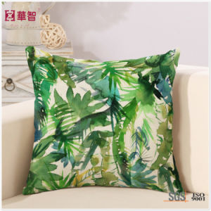 Digital Printing Leaf Decorative Bed Throw pictures & photos