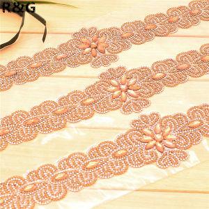 Best Selling Beautiful Luxurious Crystal Shine Rhinestone Beaded Hand Made Wedding Dress Belt pictures & photos