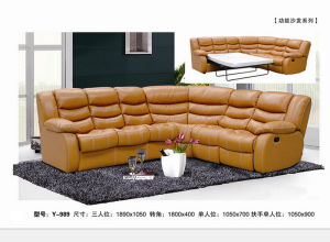Yellow High Quality Comfortable Recliner Sofa (Y989) pictures & photos