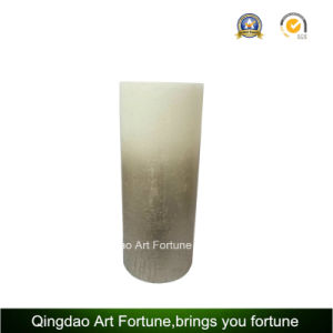 Metalic Finish Gold Pillar Candle for Home Decoration pictures & photos