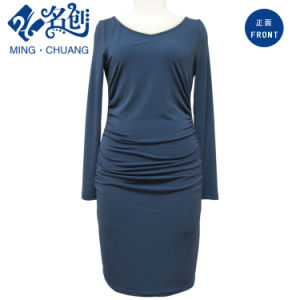 Women Slip-on Fashion Dress Long Sleeves pictures & photos