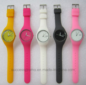 Candy Color Frosted Silicone Jelly Kids Watch pictures & photos
