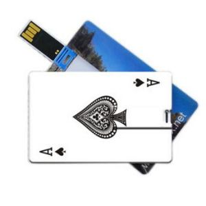 Promotional Credit Card USB Flash Drive Pen Drive 64MB-128GB Flash Memory Stick Drive Customize Logo Available pictures & photos