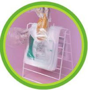 HDPE Clear Plastic Saddle Bag pictures & photos