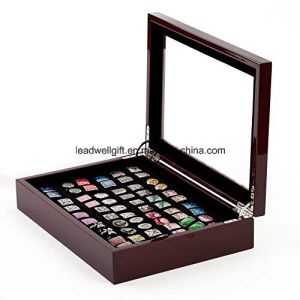 Cufflinks Storage Box/Case with Mahogany Stain Finish for up to 36 Pairs pictures & photos
