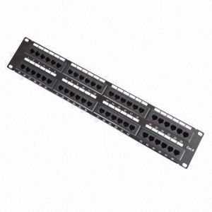 RJ45 48 Port CAT6 UTP Patch Panel pictures & photos