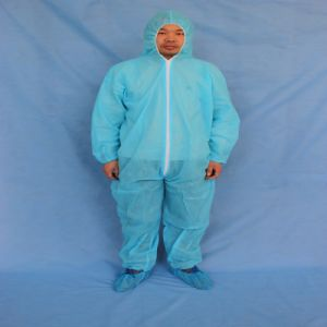 Disposable 115*135cm 50GSM PP Coveralls with Hood
