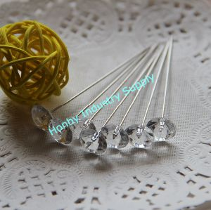 65mm Crystal Diamond Shape Diamante Pin for Corsage