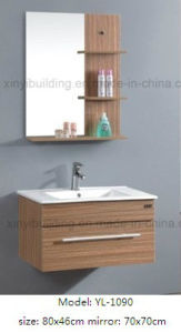 Sanitaryware Wooden Cabinet Vanity with Glass Mirror