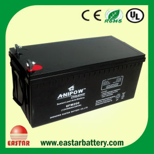 12V 200ah Solar Battery, Charge Battery, UPS AGM Deep Cycle Battery pictures & photos