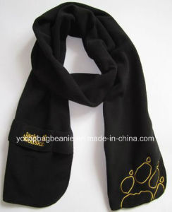 Colorful Custom Brand Promotion Polyester Polar Fleece Scarf pictures & photos