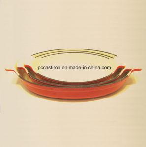 Enamel Cast Iron Saute Pan Size 26X15.5cm pictures & photos