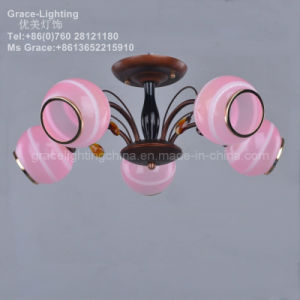 Professional Lighting Factory Glass Ceiling Lamp Crystal Chandeliers (GX-3334-5) pictures & photos