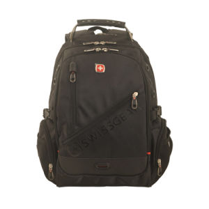 Black Computer Backpack with 1680 D and Swiss Gear Design pictures & photos