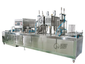 Automatic Liquid Cup Filling Sealing Machine for Various Yoghurt Cheese pictures & photos