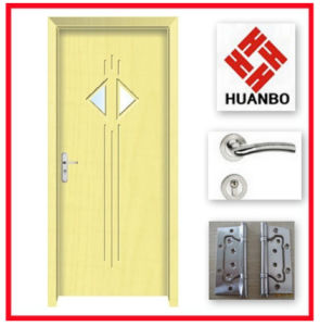 2014 Popular Design Wooden PVC MDF Glass Door Hb-025