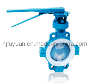 High-Quality E-Tfe Lined Butterfly Valve pictures & photos