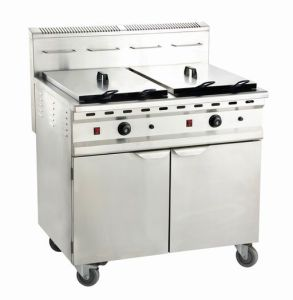Gas Fryer with Cabinet Gf-482/C pictures & photos