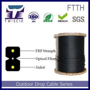 2core G657A FTTH Drop Cable for Local Fibre to The Home Telecom Project pictures & photos