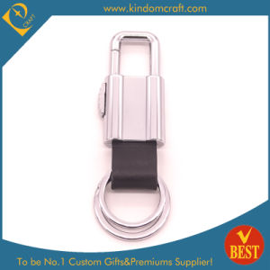 China Customized Genuine Leather Key Chain with Metal Accessory for Promotional Gift pictures & photos