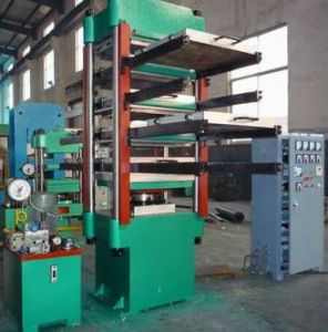 Hydraulic Rubber Ground Tile Press / Rubber Flooring Making Machinery pictures & photos