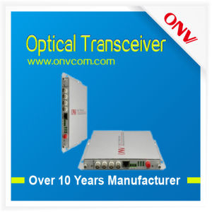 Good Quality 4CH Video Fiber Optic Transceiver with 1CH Reverse Data