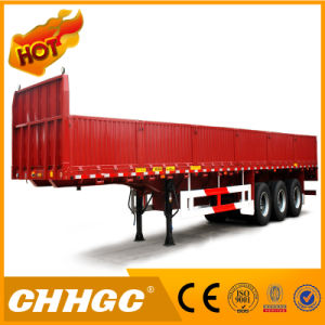Hot Sale Carbon Steel 3 Axles Side Wall Semi Trailer pictures & photos