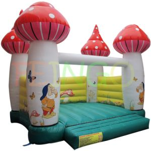 Finego Mushroom Inflatable Bounce House Moonwalk Jumpers pictures & photos