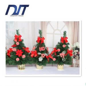 50cm Desktop Mini Christmas Tree Red Ribbon Decoration Display Decoration pictures & photos
