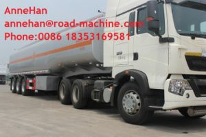 45 M3 Three Axles Oil Tank Small Semi Trailer Trucks Yellow and White Color pictures & photos