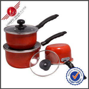 3 PCS Sauce Pan Kitchenware Enamel Cookware Set pictures & photos