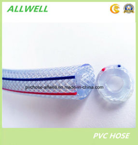 PVC Plastic Transparent Water Hose Fiber Braided Water Garden Tubing Pipe Hose pictures & photos