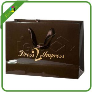 Luxury Paper Shopping Gloss Bags with Printing pictures & photos