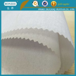100% Polyester Woven Fusible Interlining for Sports Cap&Trousers Waist Band pictures & photos