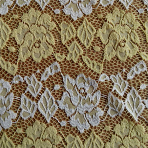 Single Dyed Brocade Lace Fabric pictures & photos