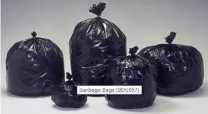 Custom size garbage bags
