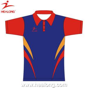 100% Polyester Sublimaiton New Design Women Polo T Shirt pictures & photos