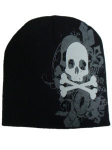 Knitted Winter Warm Men Acryic Printed Skull Hat pictures & photos