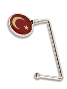 Turkey Flag Epoxy Round Bag Hanger (BH301B) pictures & photos