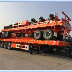 40ft Tri-Axle Flatbed Container Trailer for Forwarding Transportation pictures & photos
