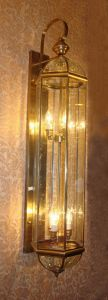 Pw-19349 Copper Wall Lamp with Glass Decorative pictures & photos