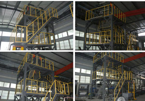 Three Layer Co-Extruding Rotary Die-Head Film Blowing Machine pictures & photos