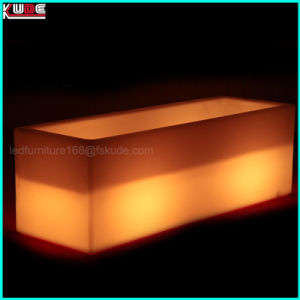 Plastic LED Illuminated Nightclub Furniture Glowing Long Cube Planter Ice Bucket pictures & photos