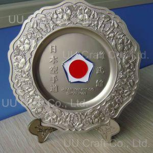 Customized Matt Silver Souvenir Plate (PL-011)
