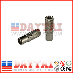 IEC CATV Connector Male Spiral Connector for Rg59/RG6 pictures & photos