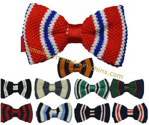 Hot Selling New British Fashion Polyester Wool Knitted Men Bow Tie pictures & photos
