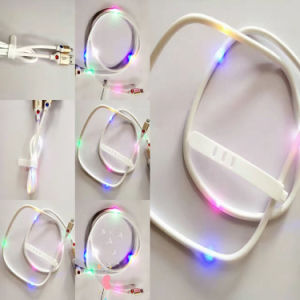 Patent 5 Colors Lighted USB Charging Cable for Ios Android pictures & photos