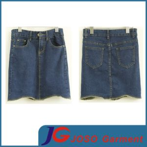 Wholesale Women Short Jean Skirt (JC2051) pictures & photos